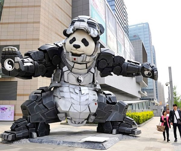 Just a Giant Panda Wearing Iron Man Armor