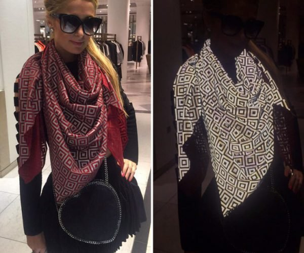 Anti-paparazzi Scarf Ruins Flash Photos