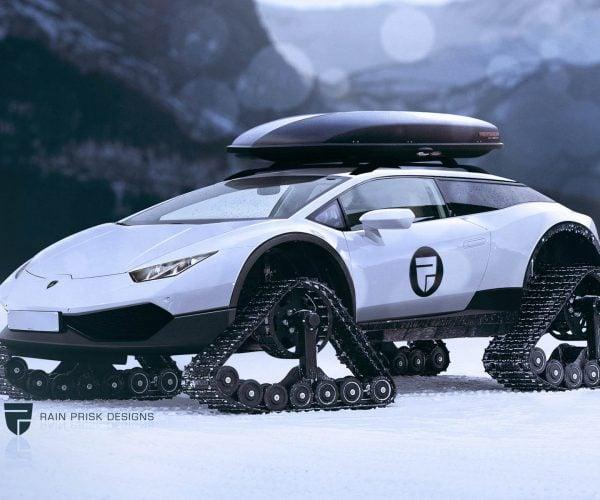 Lamborghini Huracán Snowmobile: Snomo Lambo