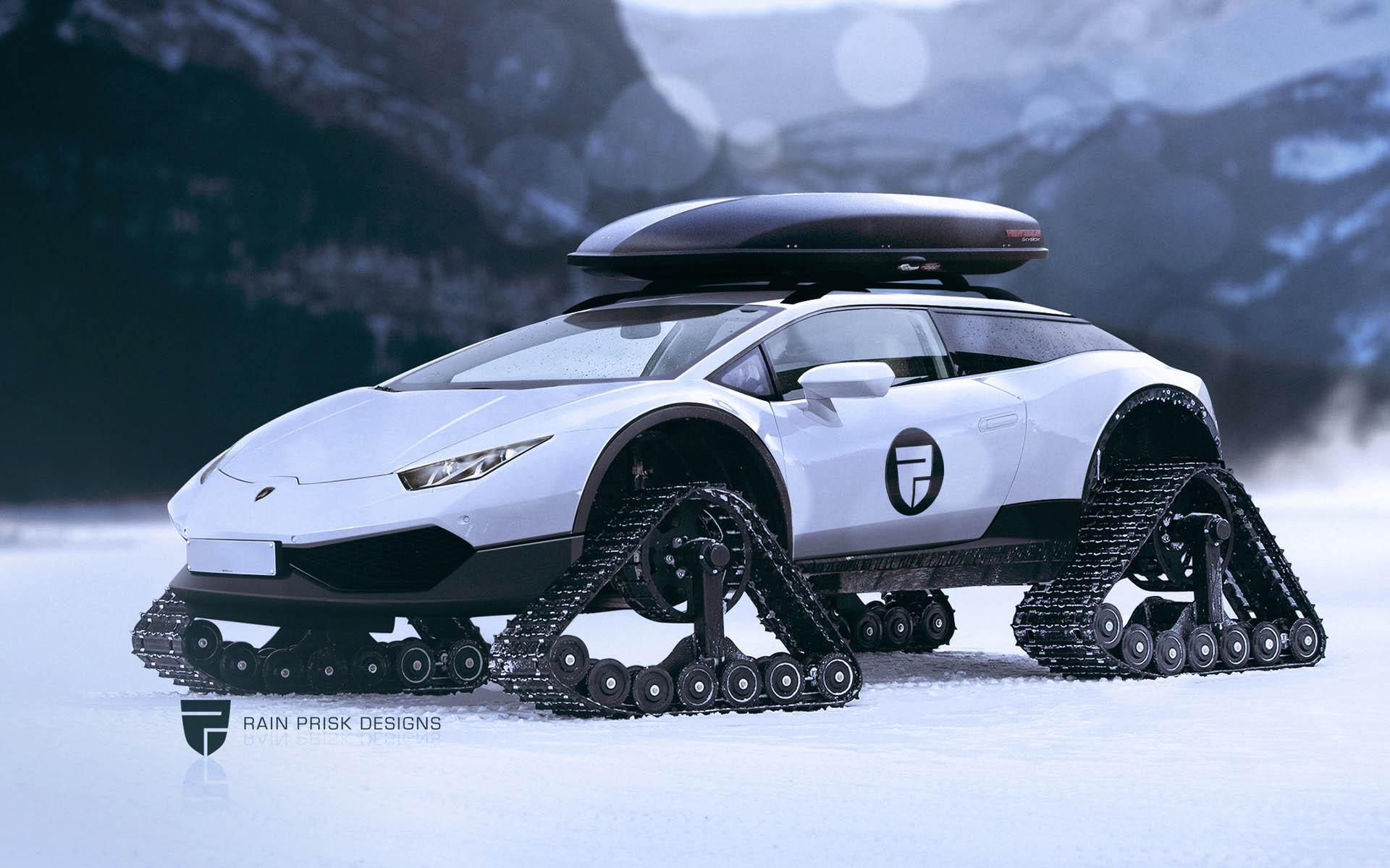 Best Off Road Tires >> Lamborghini Huracán Snowmobile: Snomo Lambo - Technabob