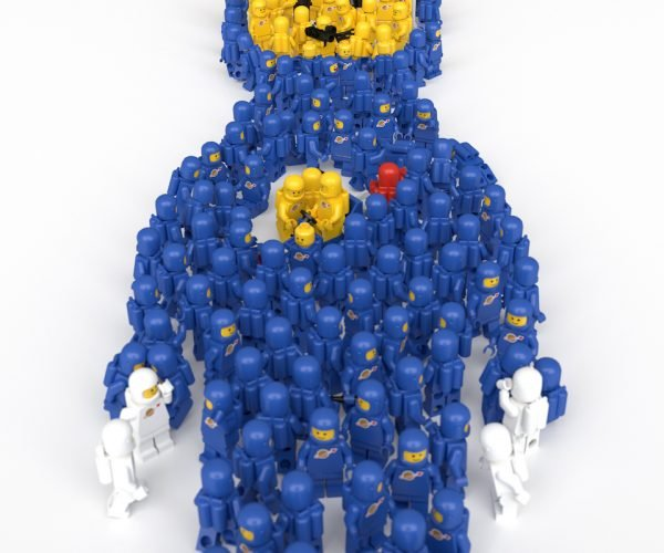 This LEGO Spaceman is Made of LEGO Spacemen