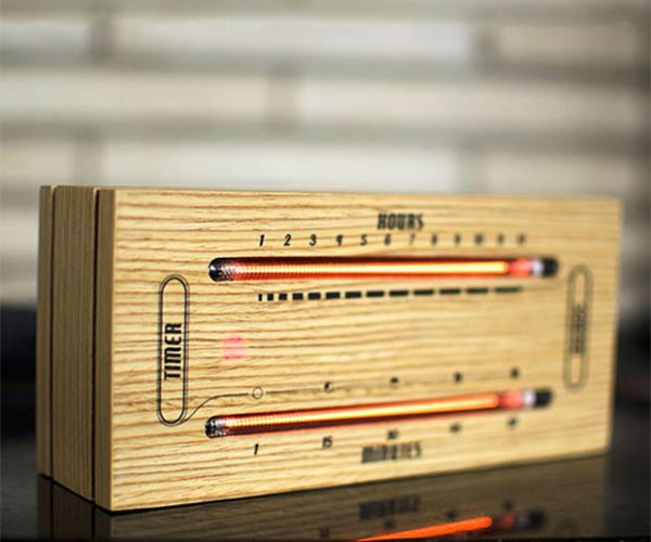 Luminous Electronic Bar Graph Clock: Telling Time with Charts & Graphs