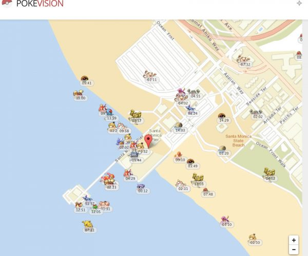 Pokévision Finds all the Pokémon in Your Area… When the Servers Work
