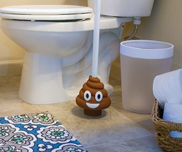 Unclog Your Toilet with the Poo Emoji Plunger