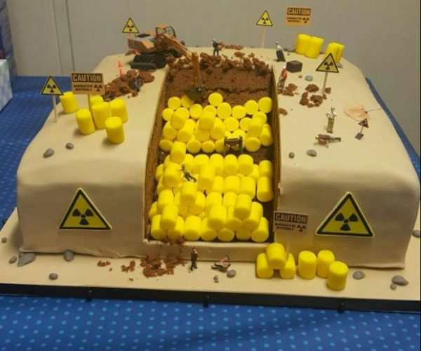 This Radioactive Waste Birthday Cake is Rad