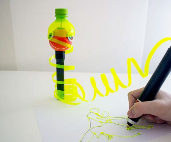 Renegade 3D Pen Turns Empty Bottles into Art