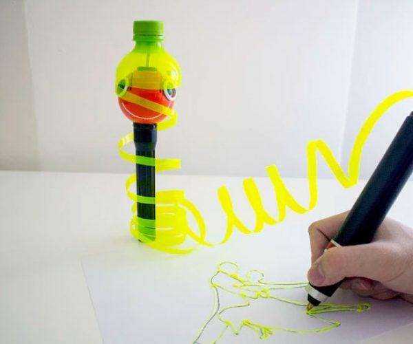 Renegade 3D Pen Turns Empty Bottles into Art