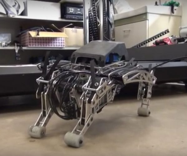 This Pneumatic Robot Dog Runs Like Its on Crank
