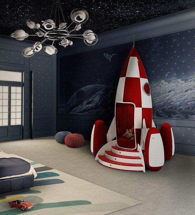 It Has A Red Velvet Interior As Well As Lighting And Music Systems That Are  Controlled Through A Smartphone App. Itu0027s Also Got Hidden Storage In The  Rockets ...