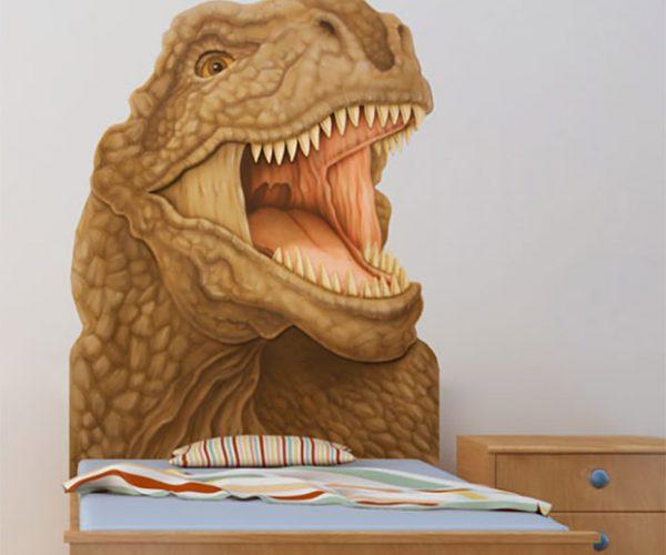 T-Rex & Triceratops Headboards: Jurassic Nap