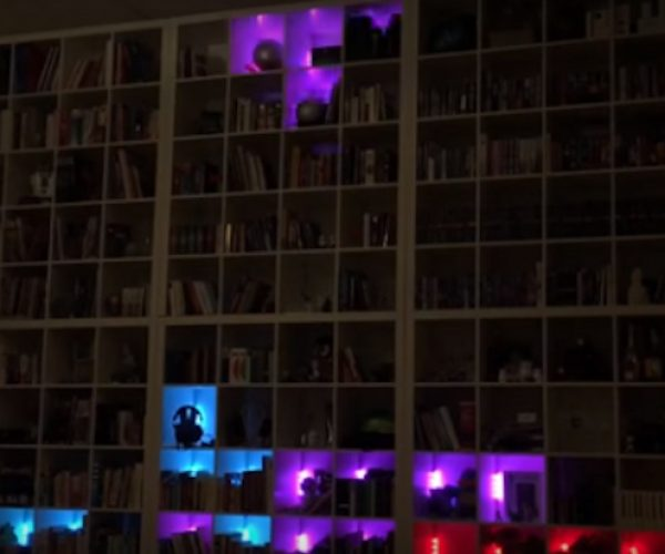 Play Tetris on This Bookcase