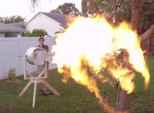 Giant Fire-Breathing Vortex Cannon: I Fell into a Burnin' Ring of Fire