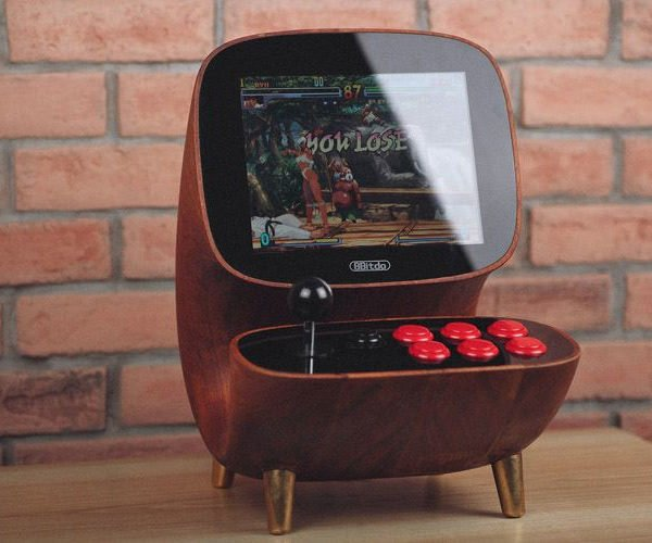 8bitdo Wooden Desktop Arcade is Retro Sexy