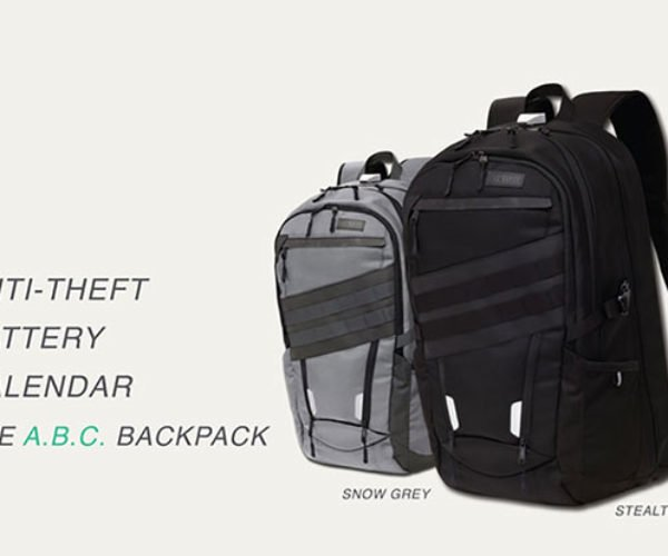 A.B.C. Backpack Powers Your Gadgets and Keeps Your Stuff Safe