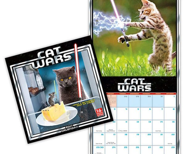 Cat Wars Calendar: The Dark Side of the Paws