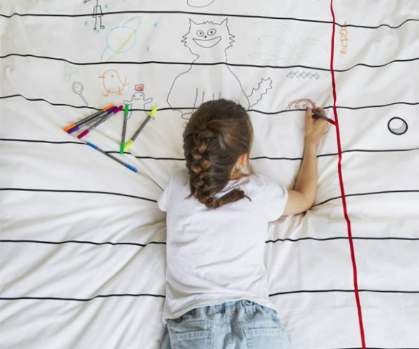 The Doodle Duvet is Meant to Draw On