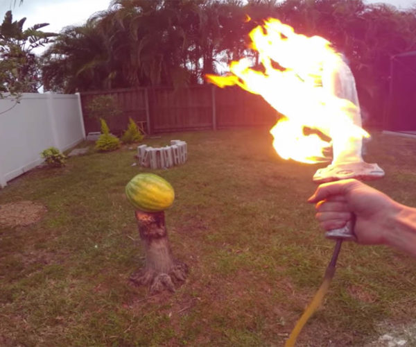 The Backyard Scientist Makes a Flaming Sword