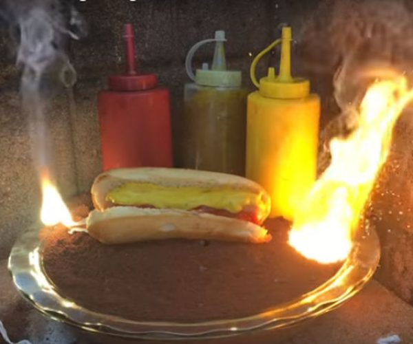Cooking a Hot Dog with 4,000° Thermite