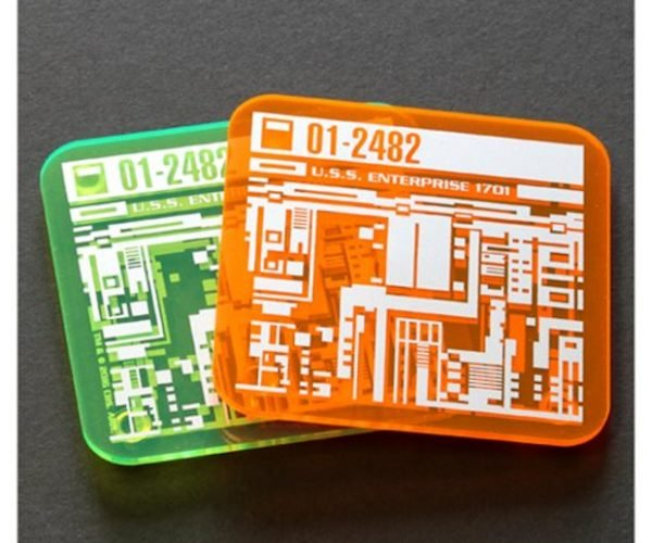 Star Trek Isolinear Chip Coasters Protect Your Starship from Spills