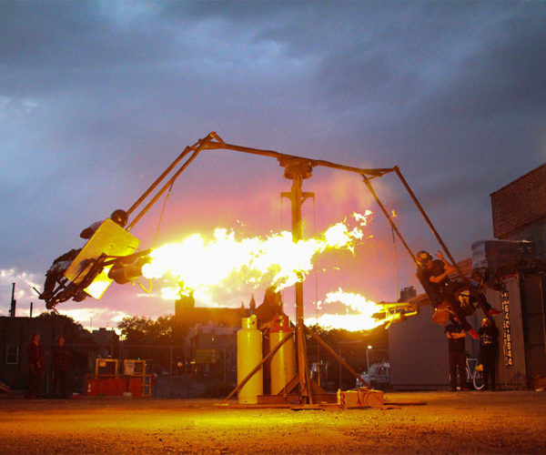 Jet Engine-Powered Merry-Go-Round Is a Scary-Go-Round