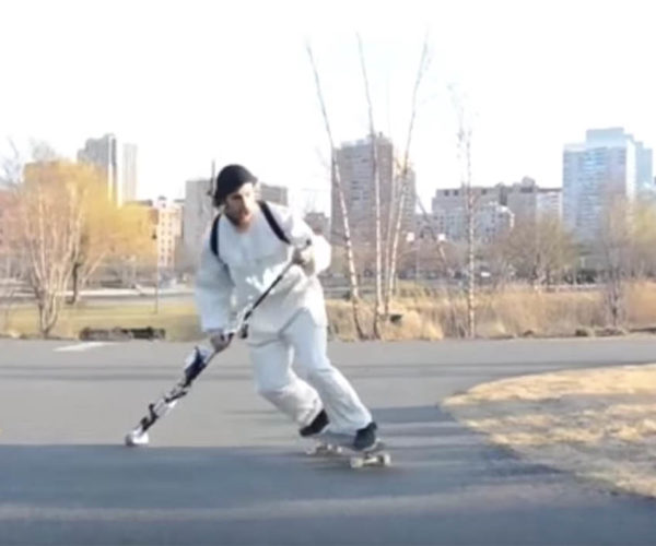 The KickStick Can Propel You up to 30 mph on Your Skateboard