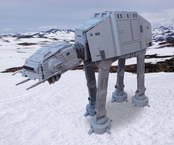 This Massive LEGO AT-AT Is Scaled to Minifigs