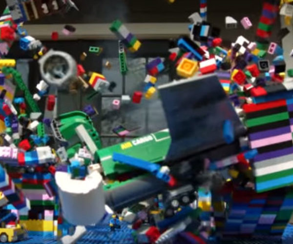 Watch a LEGO Plane Crash in Slow Motion