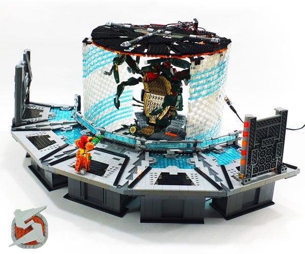 LEGO Metroid Prime Diorama: Parasite Queen Battle