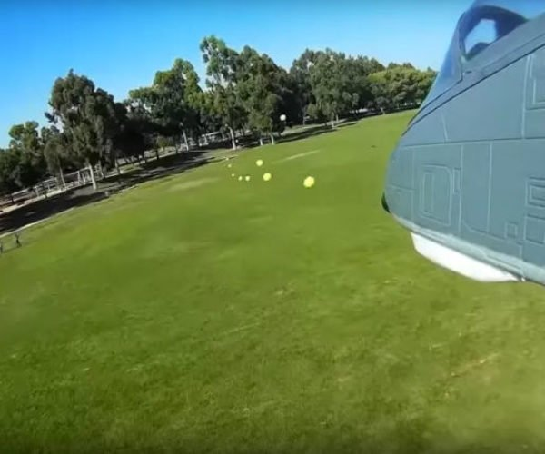 Remote-control Warthog Gets NERF Machine Gun