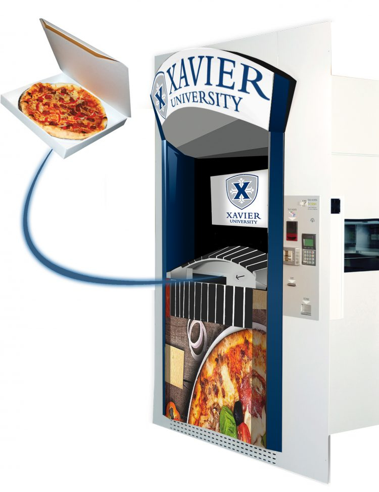 America's first pizza ATM opens at Xavier University