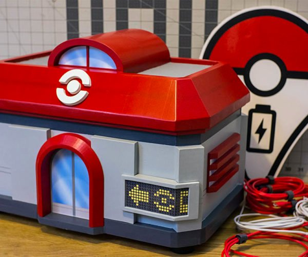This Portable Pokécenter Will Charge Your Phone Battery