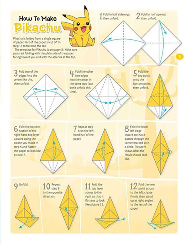 how to make an origami book instructions