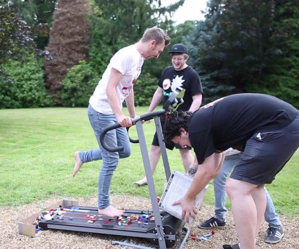 LEGO Treadmill Challenge: Fun Under Foot