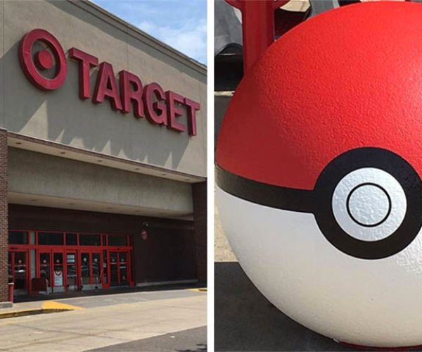 Target Turns Big Red Balls Outside Stores into Giant Poké Balls