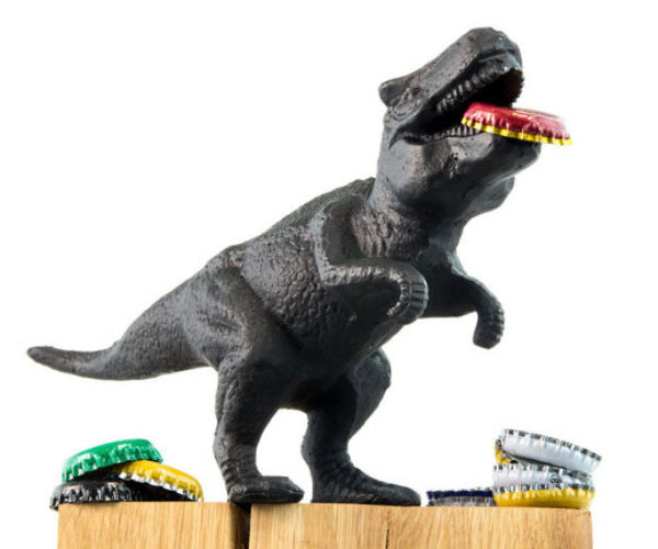 Cast Iron T-Rex Bottle Opener Doesn't Open Bottles with Its Tiny Arms
