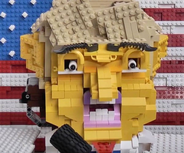LEGO Donald Trump Talking Head Is HUGEly Creepy