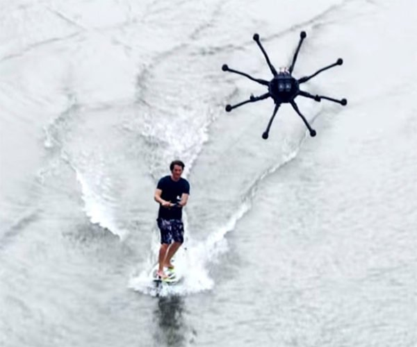 Freefly ALTA 8 Drone Pulls a Surfer, Invents Dronesurfing