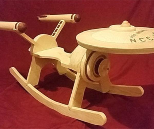 Star Trek Enterprise Rocker Boldly Goes Back and Forth