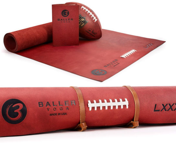 $1,000 Yoga Mat Made from Genuine NFL Football Leather