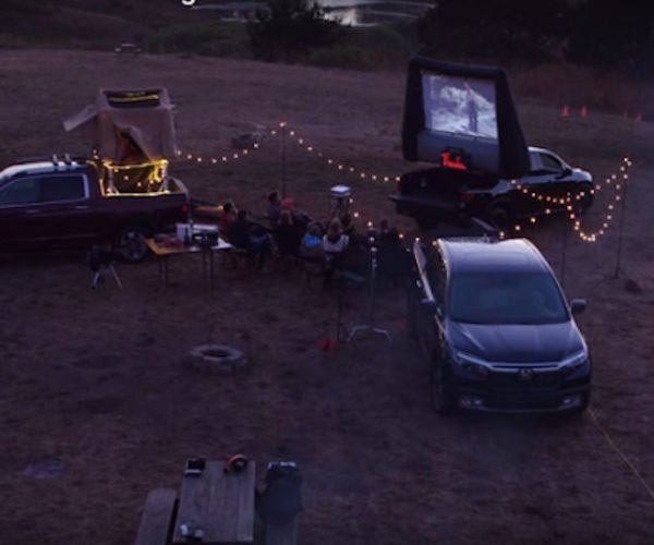 Adam Savage Converts a Honda Ridgeline Into a Movie Theater