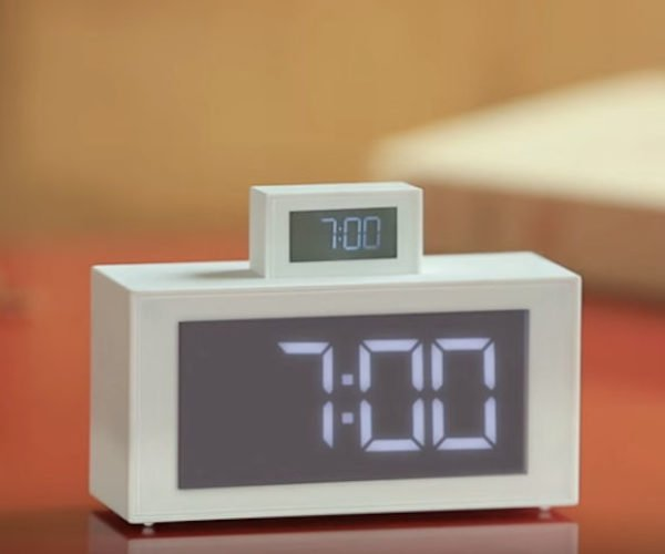 Lexon In-Out Clock: Double-Double Alarm Clock