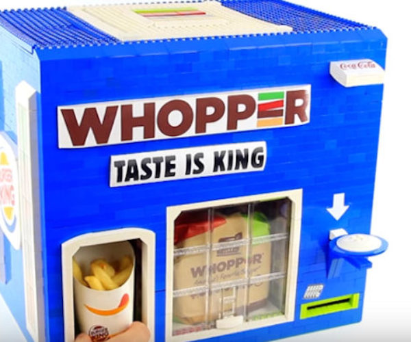 LEGO Burger King Machine Dispenses an Entire Combo Meal