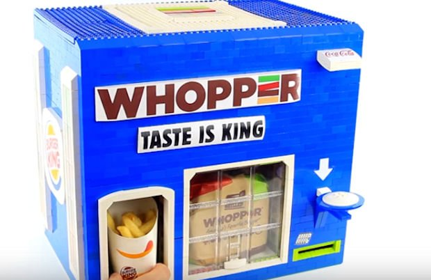 LEGO Burger King Machine Dispenses an Entire Combo Meal - Technabob