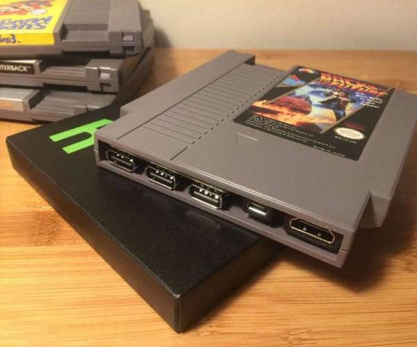 Pi Cart Crams a Retro Gaming Emulator Inside the Carcass of a NES Cartridge