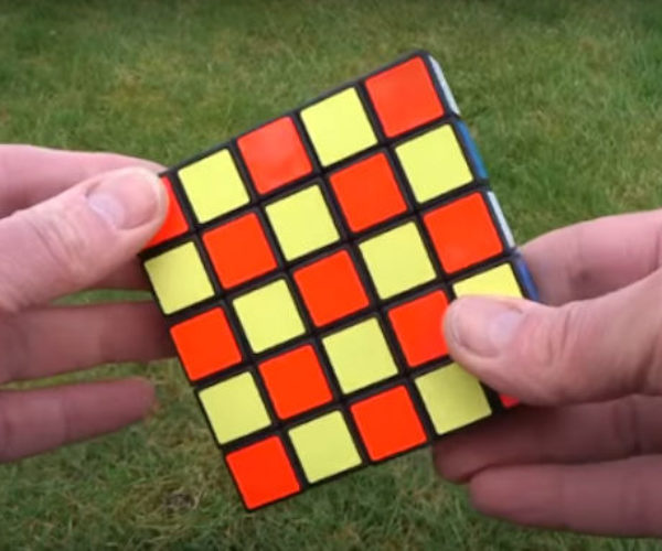 Guy Makes 'Impossible' 1x5x5 Rubik's Cube Puzzle