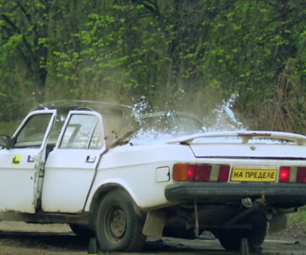Watching Cars Get Smashed by a Huge Concrete Block Is Wonderfully Satisfying