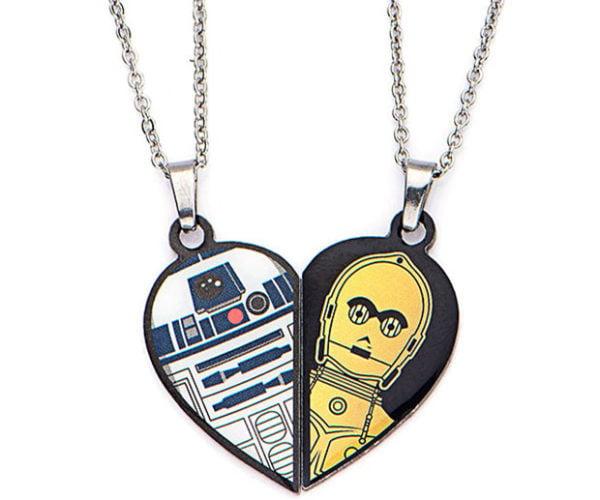 R2-D2 and C-3PO Best Friends Necklaces: Droids4Ever