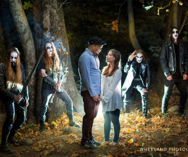 Couple Takes Most Metal Engagement Photo Ever
