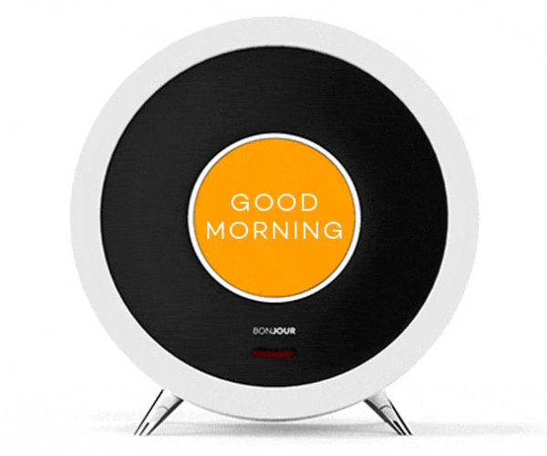 Bonjour Smart Alarm Clock Wants You to Be on Time