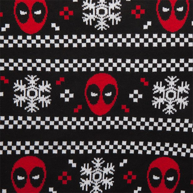Deadpool Ugly Christmas Sweater Looks Perfect with Brown ...